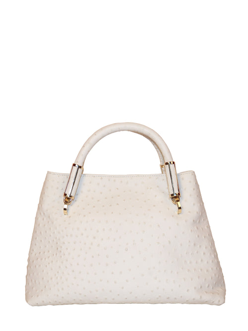 White Ava Satchel, IVANKA - elilhaam.com