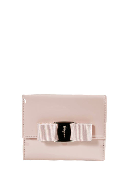 Accessories,Designers - Beige Vara Bow French Wallet