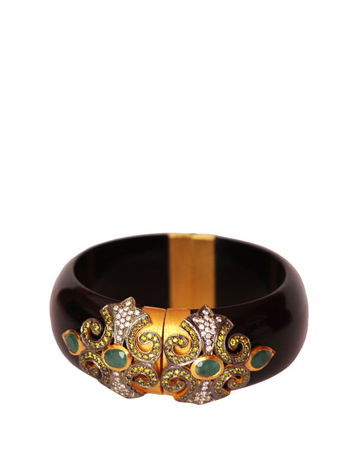 Black Resin Bracelet, TANZILA RAB - elilhaam.com