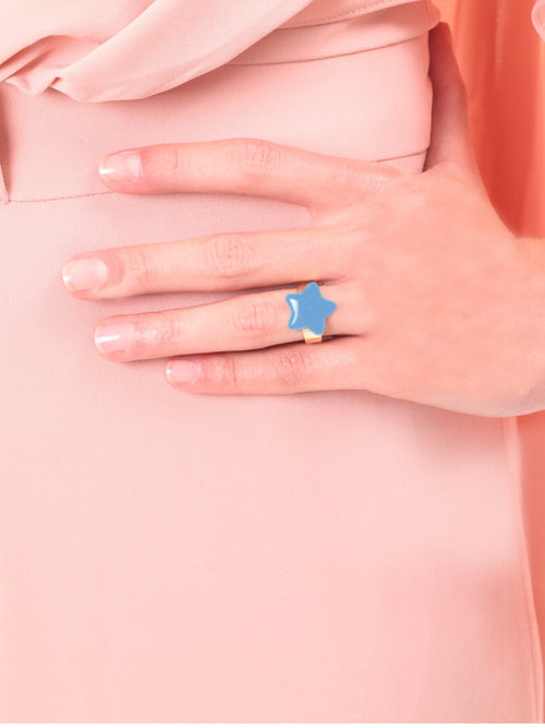 Blue Enamel Star Ring, TULESTE - elilhaam.com