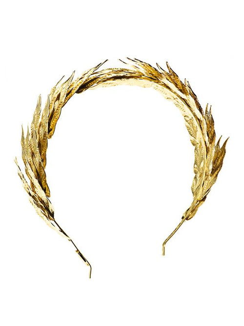 Caesar Gold Effect Laurel Motif Headband, LOUIS MARIETTE - elilhaam.com