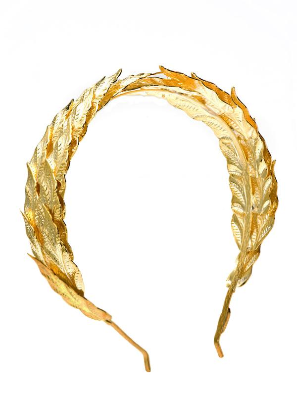 Caesar Gold Leaf Headband, LOUIS MARIETTE - elilhaam.com