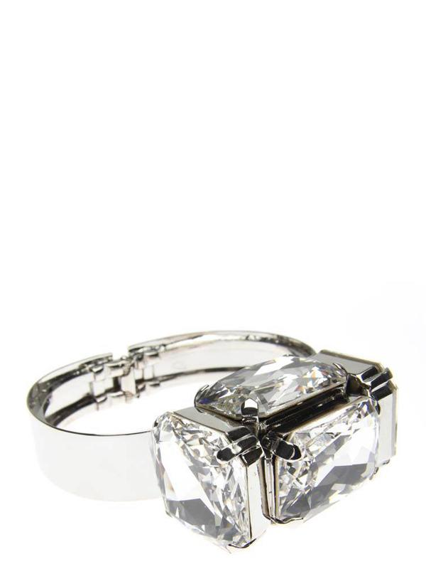 Accessories,Designers - Cuff With Clap Fastening Rock Cube