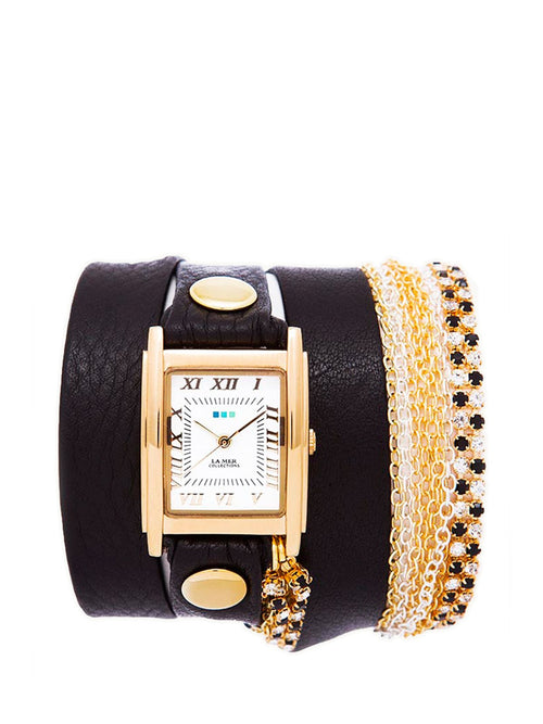 Accessories,Designers - Gatsby Crystal Wrap Watch
