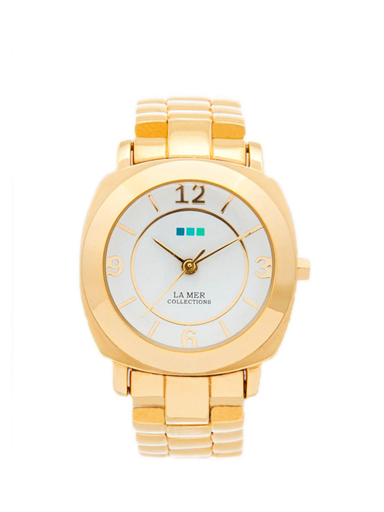 Accessories,Designers - Gold Mini Odyssey With White Dial Watch