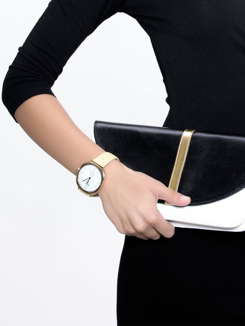Accessories,Designers - Gold Vintage Oversize Watch