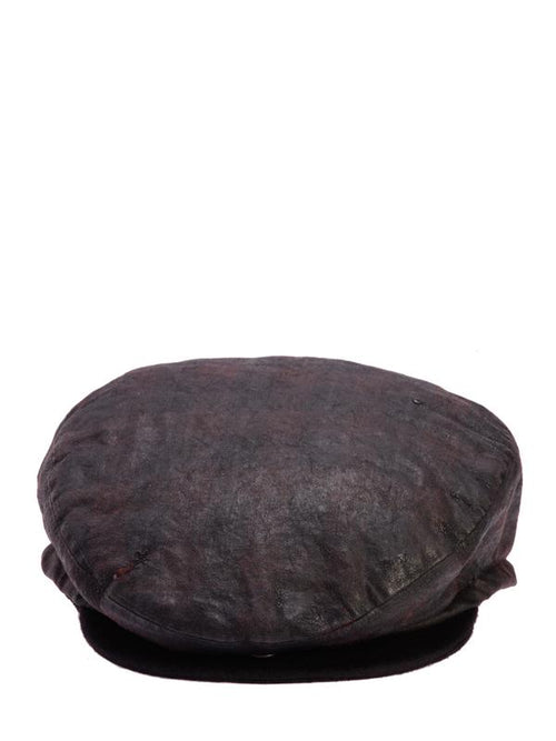 Accessories,Designers - Grey Washed Newsboy Cap