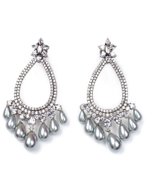 Accessories,Designers - Mystic Grey Earrings