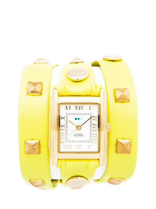 Accessories,Designers - Pyramid Stud Wraps Watch
