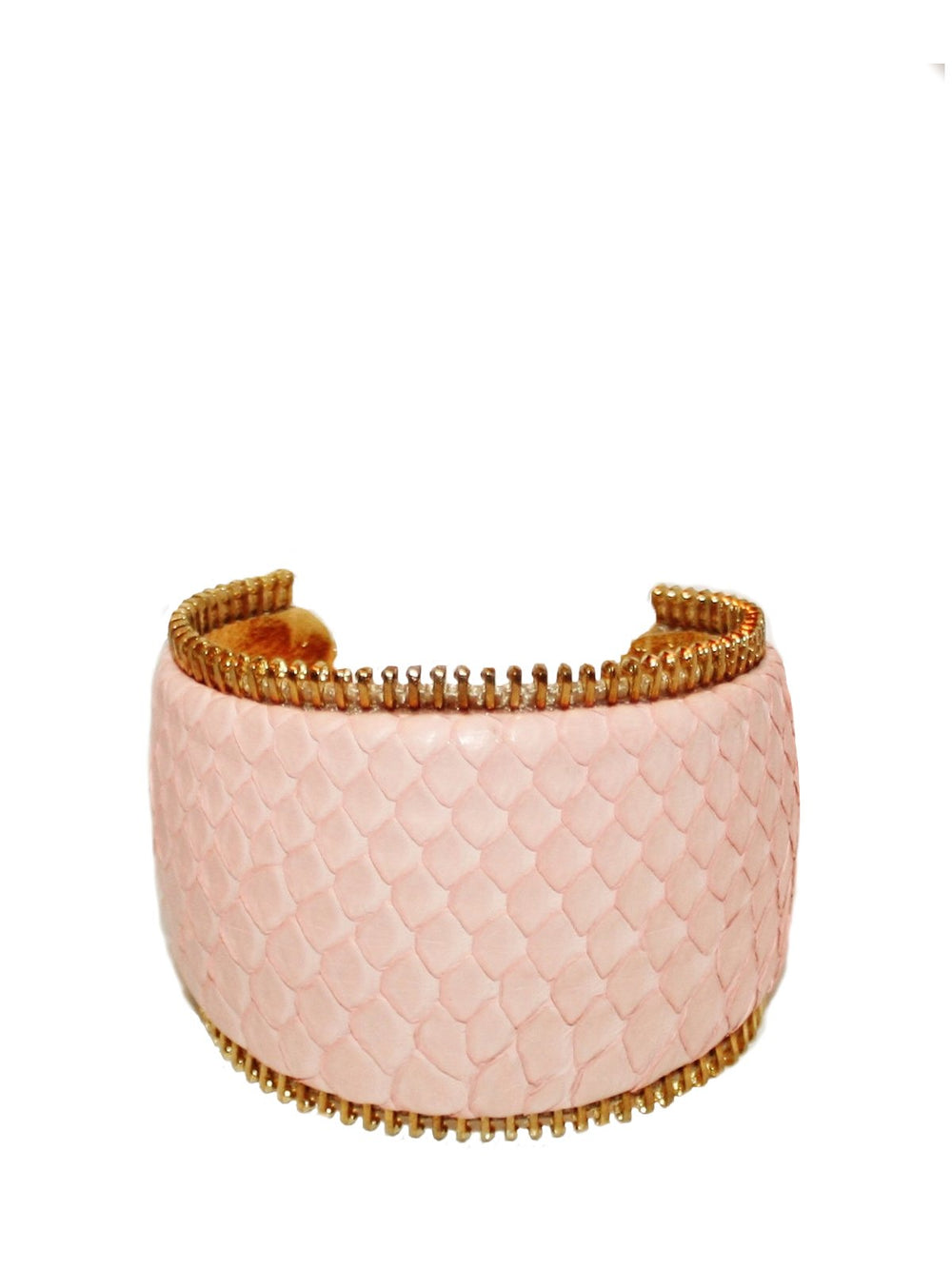 Accessories,Designers - Python Zipper Cuff (curve)