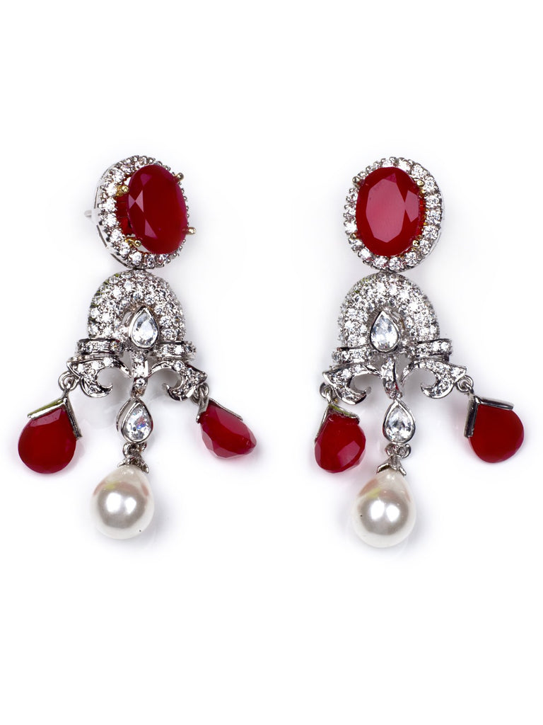 Accessories,Designers - Red Ruby Earrings