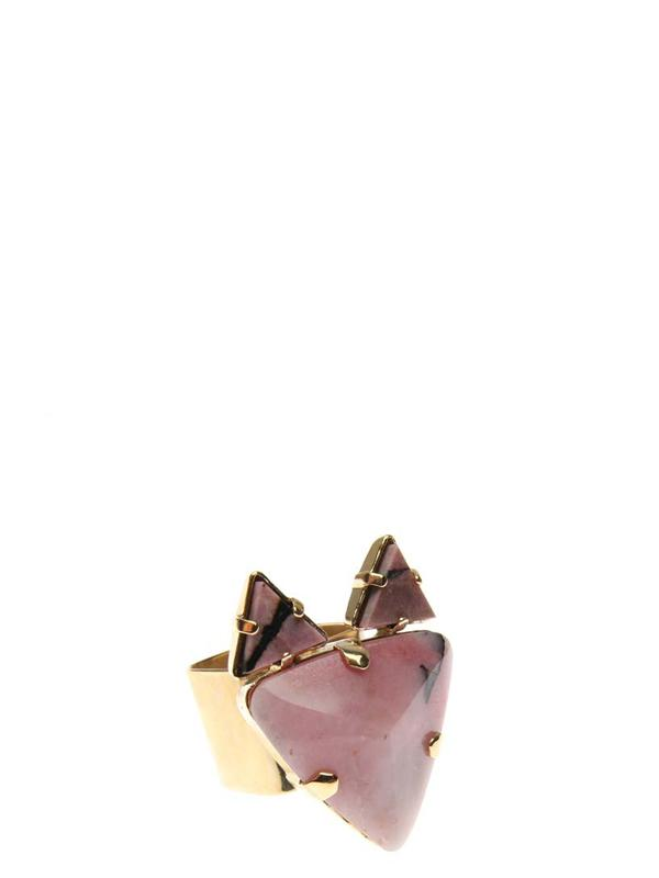 Accessories,Designers - Ring With Fox  Rhodonite Gold