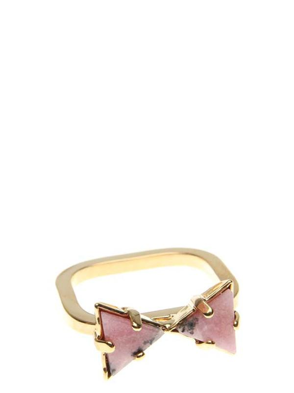 Accessories,Designers - Ring  With Gem Rhodonite Gold