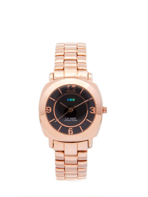 Accessories,Designers - Rose Gold Mini Odyssey With Black Dial Watch