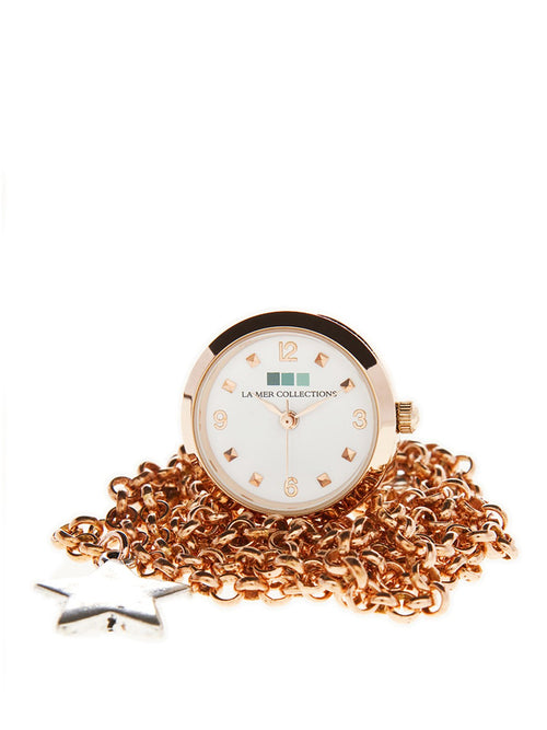 Accessories,Designers - Rose Gold With White Dial Watch