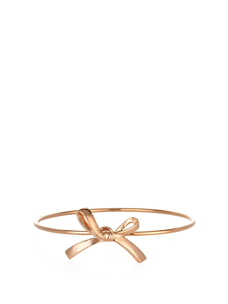 Accessories,Designers - Rosegold Single Bow Bracelet