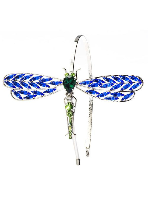 Accessories,Designers - Siam Crystal Dragonfly-motif Headband