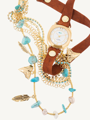 Accessories,Designers - Specialty Crystal Wraps Navajo Watch