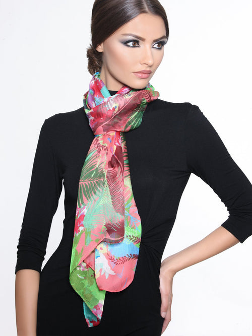 Accessories,Designers,Summer Collections - Floral Peach Scarf