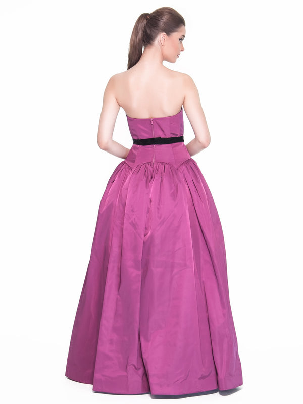 Antique Rose Taffeta Gown, DORIAN HO - elilhaam.com