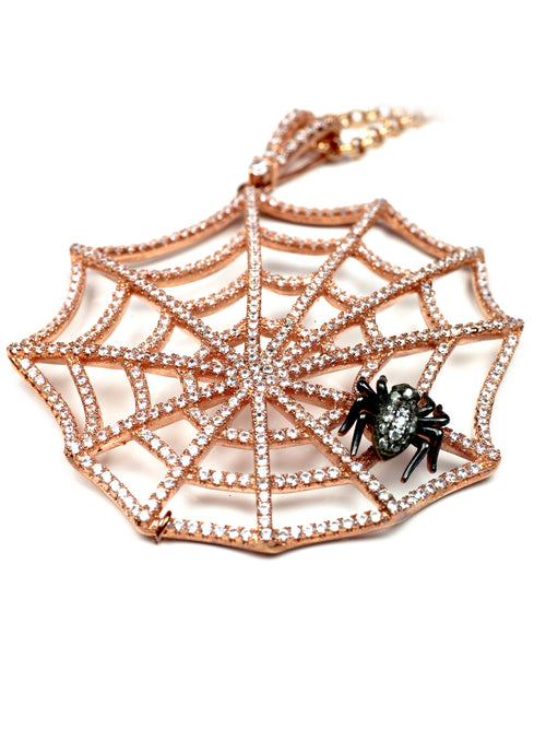 Spider Pink Gold Necklace, KOUKLA - elilhaam.com