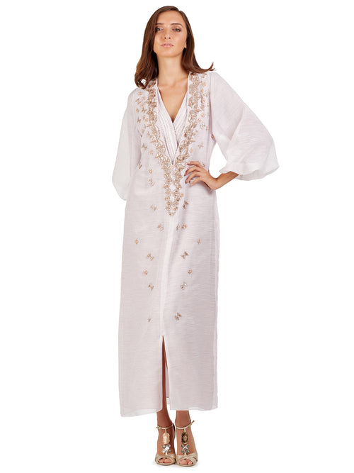 Powder Blush Embellished Kaftan