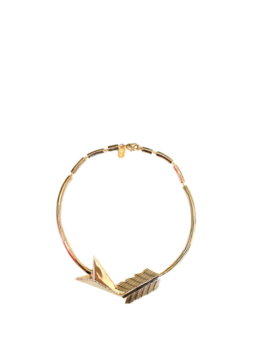 Gold plated arrow necklace