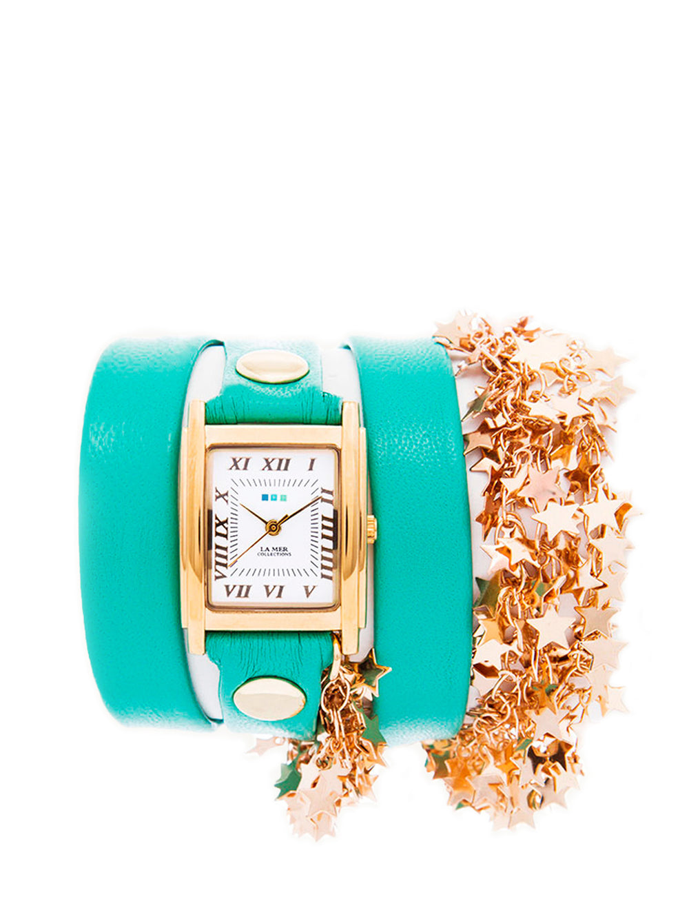 LA-MER-COLLECTIONS-MINT-GOLD-SPARKLING-STARS-WATCH