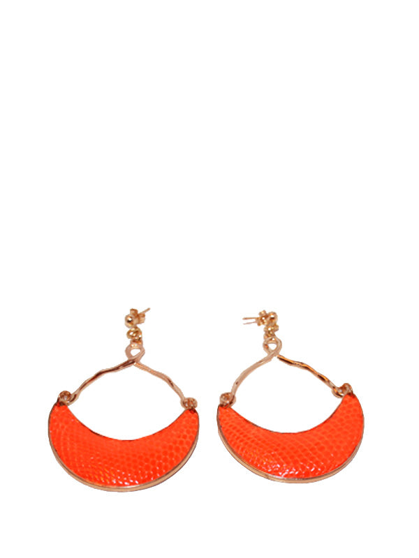 Lizard Half Moon Earring in Mandarin, TED ROSSI - elilhaam.com