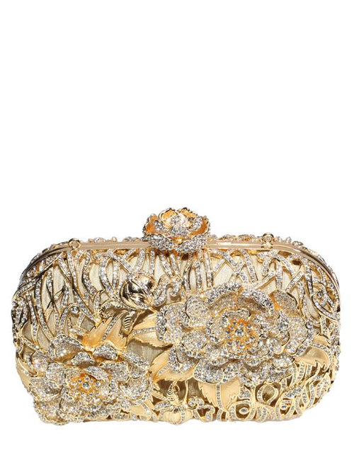 Bags,Designers - Eden Golden Clutch