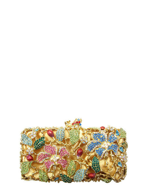 バッグ、デザイナー -  Geranium Multicolor Clutch