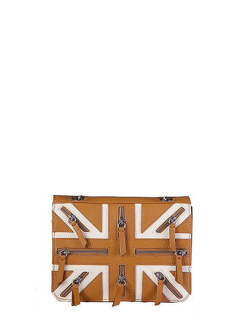 Bags,Designers - Two Toned Shoulder Flag Bag