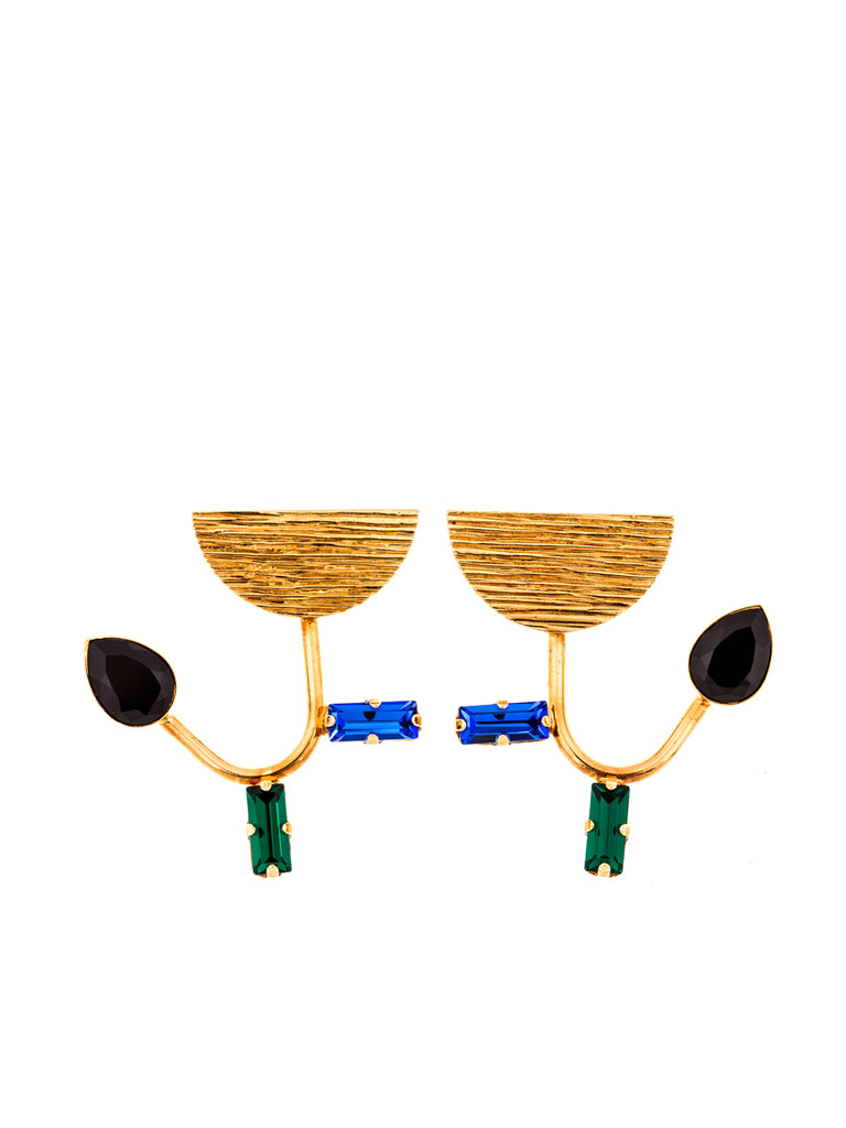 Tullips Emerald Sapphire Earrings, 10 DECOART - elilhaam.com