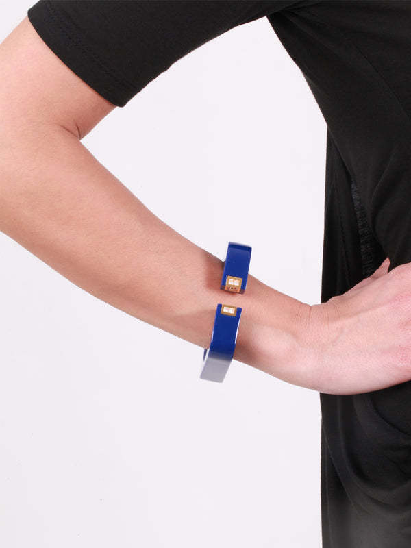 Vendome Square Cuff Blue, ISHARYA - elilhaam.com