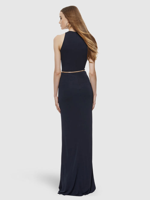 Matte Jersey Cowl Neck Gown, DAVID MEISTER - elilhaam.com