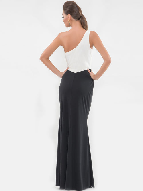 Clothes,Designers - One Shoulder Bow Gown