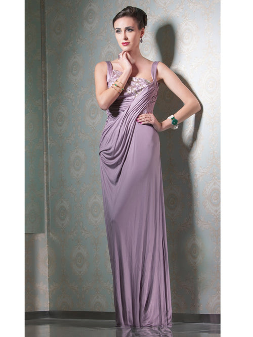 Clothes,Designers - Rose Pink Long Dress