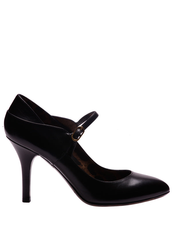 Black Leather Pumps, DOLCE AND GABBANA - elilhaam.com