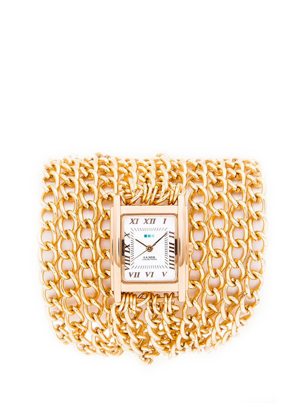 Gold All-Chain Wrap Watch, LA MER COLLECTIONS - elilhaam.com