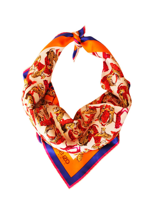 Designers,Accessories - Tiger Print Scarf