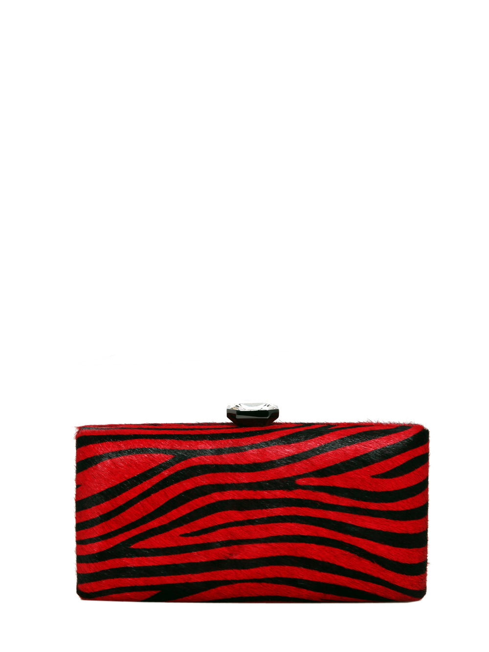 Black And Red Maryanne Clutch, SAFIRA - elilhaam.com