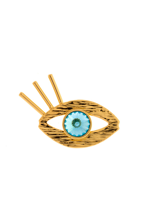 Eye Gold Plated Brass Pin, 10 DECOART - elilhaam.com