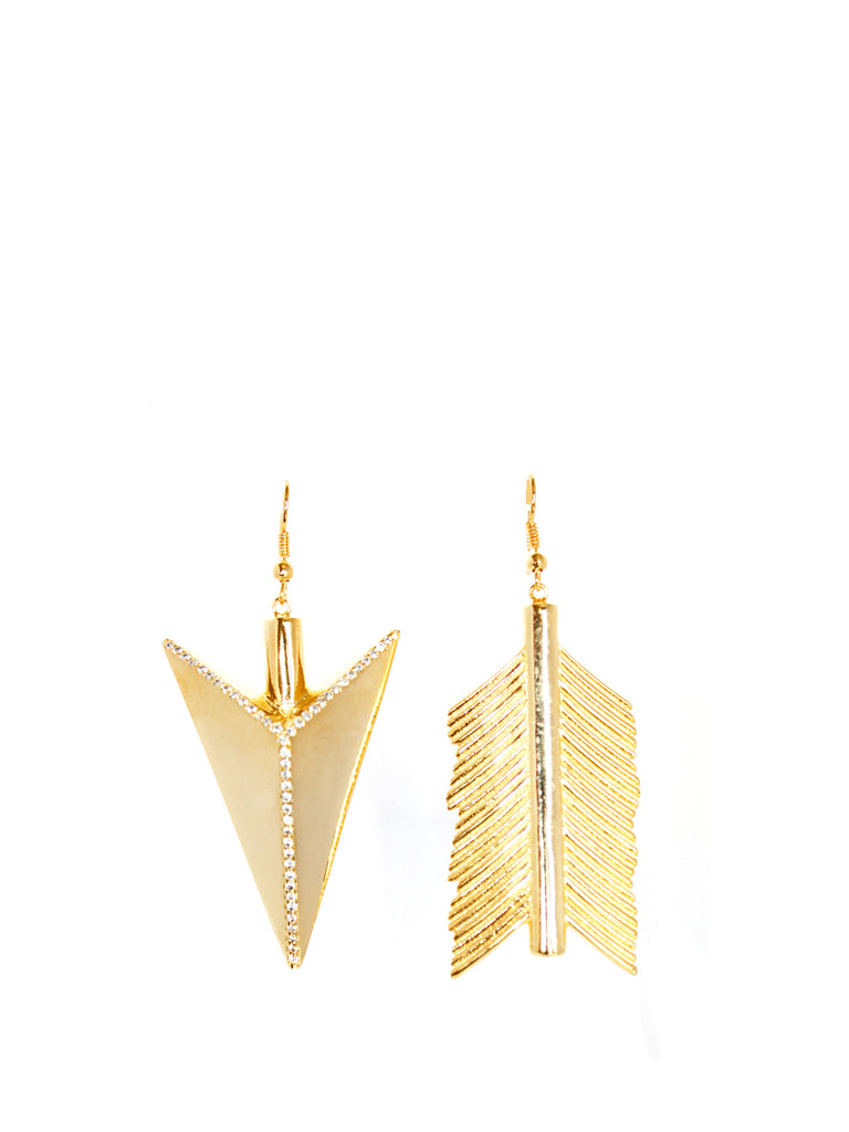 Gold plated large arrow