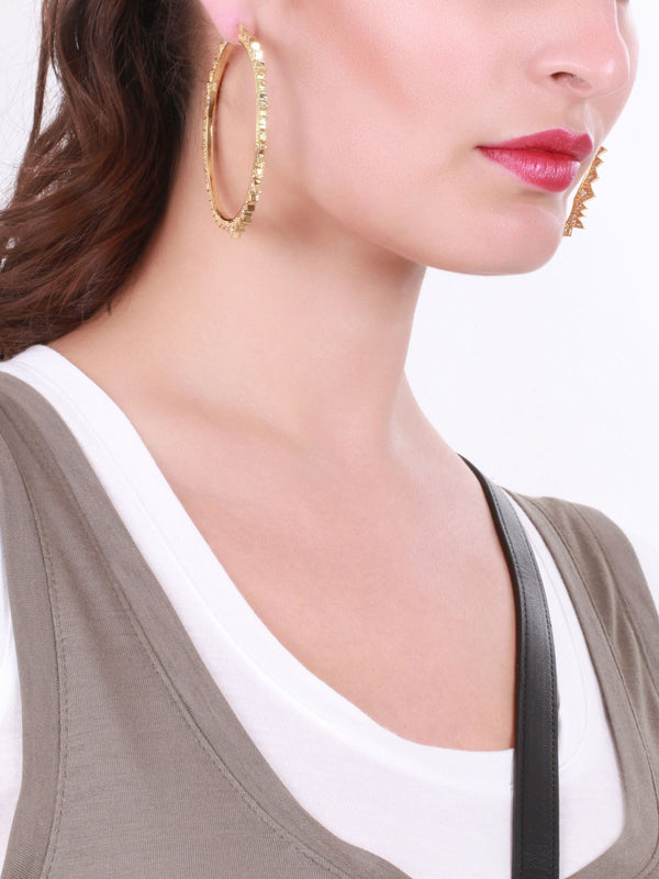 Starburst Hoops Pave Gold، CC SKYE - elilhaam.com