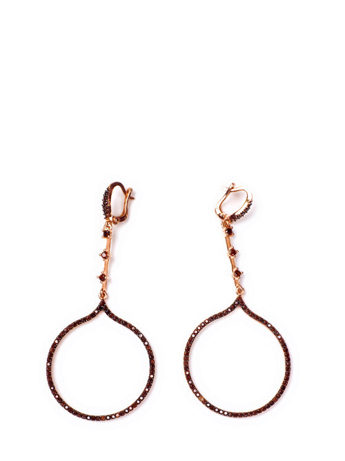 Gold loop earrings, KOUKLA - elilhaam.com