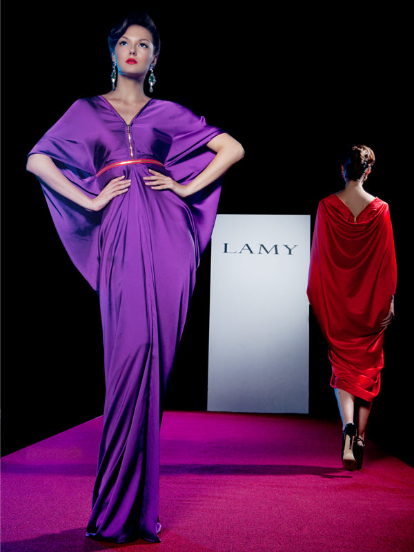Dark berry silk dress, LAMY - elilhaam.com