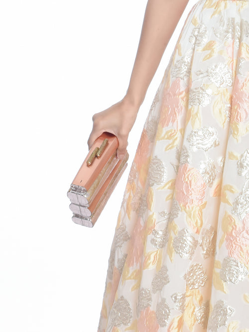Koons – Embossed Rose Croc Clutch, EMM KUO - elilhaam.com