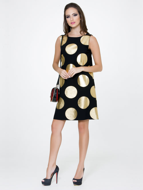 Maxi Polka Dot Dress, BOUTIQUE MOSCHINO - elilhaam.com