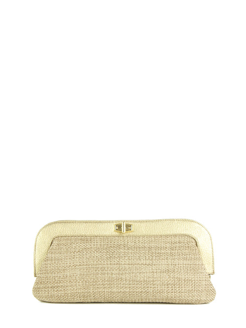 Metallic Jute Ivanka Clutch, IVANKA TRUMP - elilhaam.com
