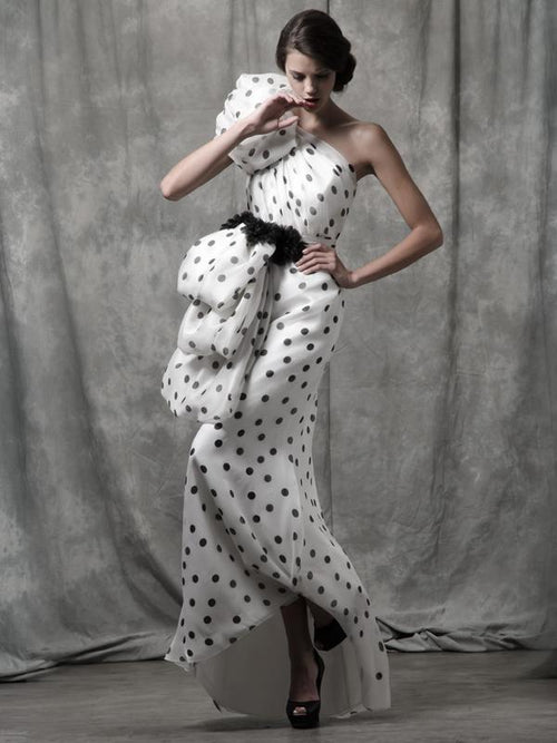 Alduara Polka Dots Gown, ISABEL SANCHIS - elilhaam.com